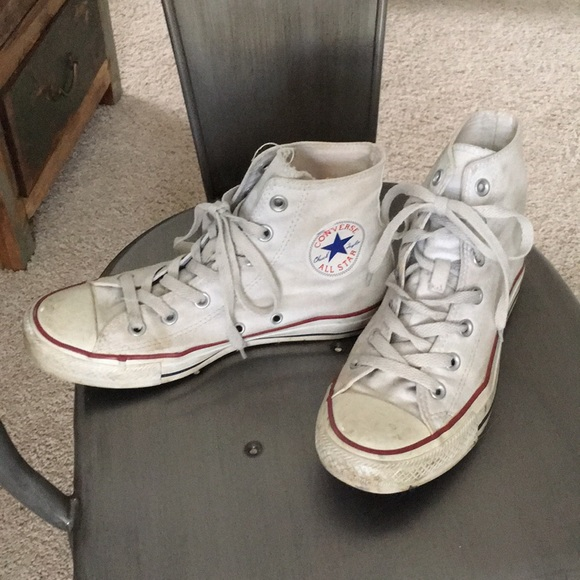 Converse Shoes - Classic White High Top Converse Sneakers d398b6dd9